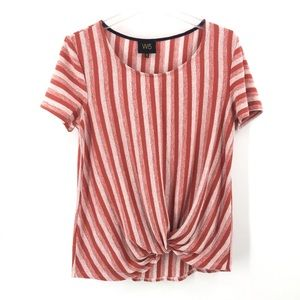 Anthropologie W5 Textured Knotted Twisted Top